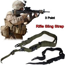 Magorui Durable Tactical 3 Point Rifle Sling Adjustable Bungee Sling Swivels Airsoft Hunting Gun Strap