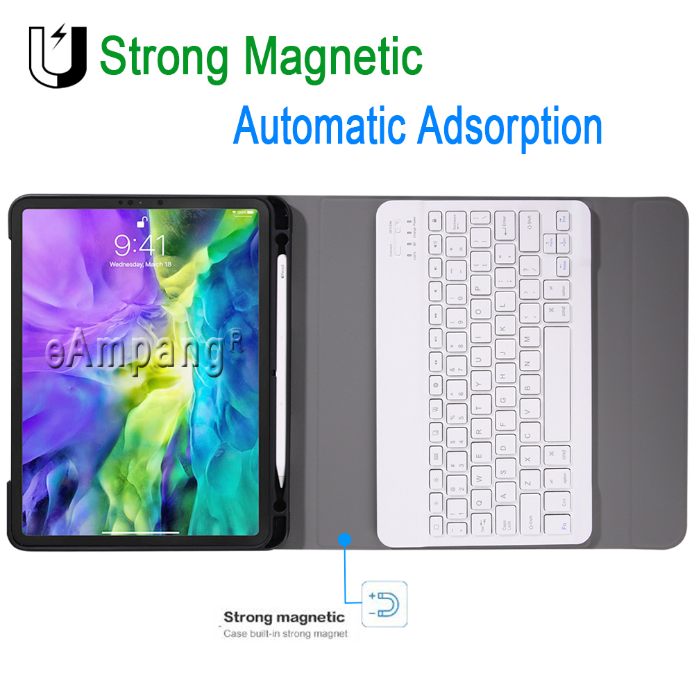 with iPad Apple 11 for Case 2020 2018 Keyboard Pencil Holder For Keyboard Pro Pro iPad