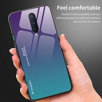 Custodia protettiva di lusso per OnePlus Nord N10 5G custodia in vetro temperato sfumato per telefono Oneplus N100 8 T pro Coque Funda