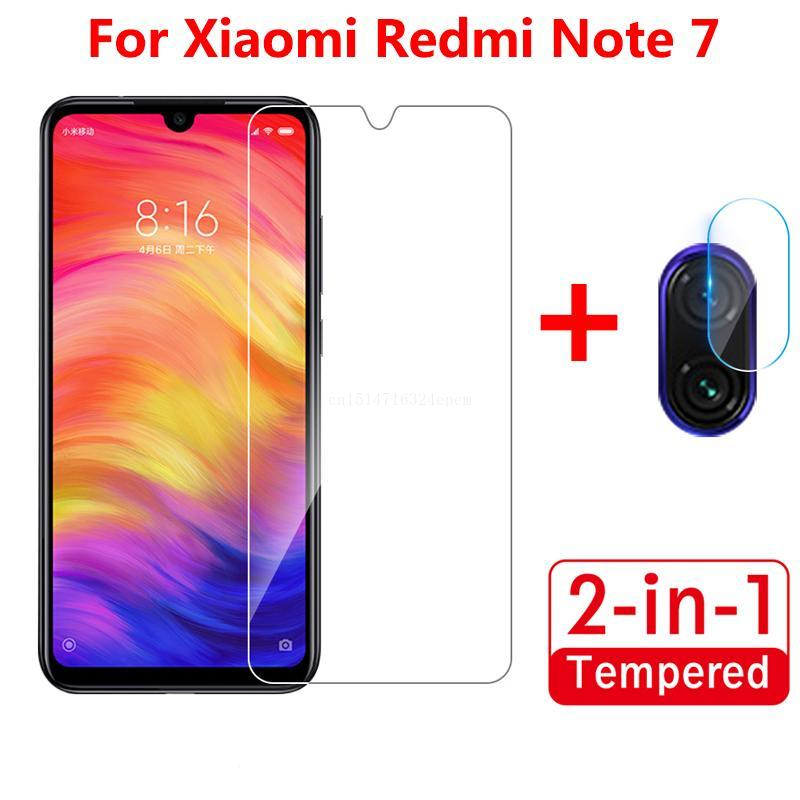 2-in-1 Camera <font><b>Lens</b></font> Soft Glass for Xiaomi <font><b>Redmi</b></font> <font><b>7</b></font> <font><b>NOTE</b></font> <font><b>7</b></font> Tempered Glass Screen <font><b>Protector</b></font> Glass Film Front Screen Protection image