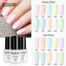 Gel Nail-Polish Nail-Art-Design Varnish Macaron-Color Led/uv-Lamp 7ml Bright for 1PC