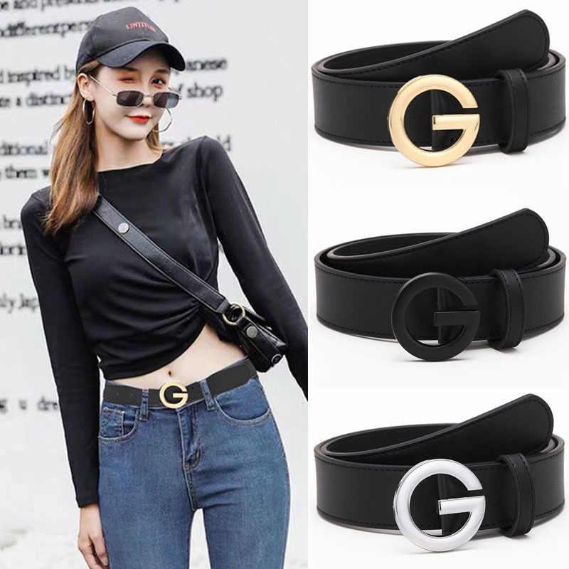De alta calidad de cuero moda G Cinturón Moda Mujeres Hombres Lujo Correas de la cintura de oro