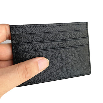 Genuine leather business card holder men women bag thin id card case slim credit card holder clutch male female mini card wallet men women leather credit card holder case card holder wallet business card female wallet purse luxury clutch wallets