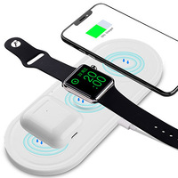 3 In 1 Fast Charger Wireless Charger for  IPhone X XS MAX XR 8 for Airpods 2019 Apple Watch 4 3 2 for Apple Headset Headphone