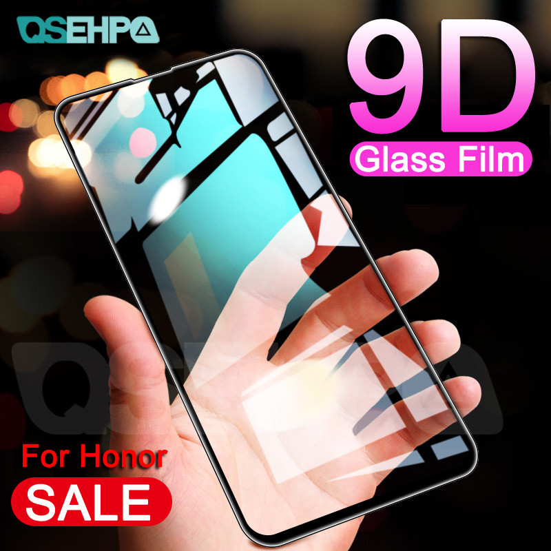 9D Protective Glass On The For Huawei Honor 9X 8X 8C 8A 9i 10i Honor 20 V20 V10 V9 Play Tempered Screen Protector Glass Film