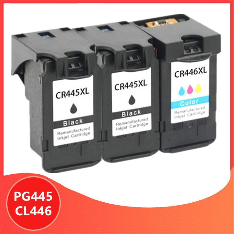3Pack PG-445 PG445 CL-446 XL Ink Cartridge for <font><b>Canon</b></font> PG 445 CL 446 for <font><b>Canon</b></font> <font><b>PIXMA</b></font> MX494 MG2440 MG2940 MG2540 <font><b>MG2540S</b></font> IP2840 image