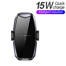 цена на 15w Universal Car Wireless Charger Phone Holder Quick Charger 360 Degree Rotation Charging Bracket for Smartphones