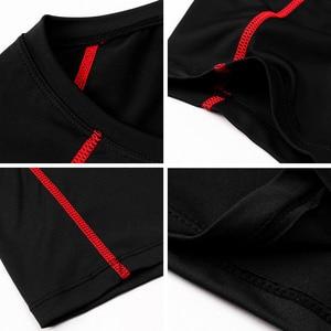 Image 4 - Acefancy 黒警官トップ圧縮ショート Leeve Tシャツためブルマストレッチトップス 71605 男性スポーツウェアジム服