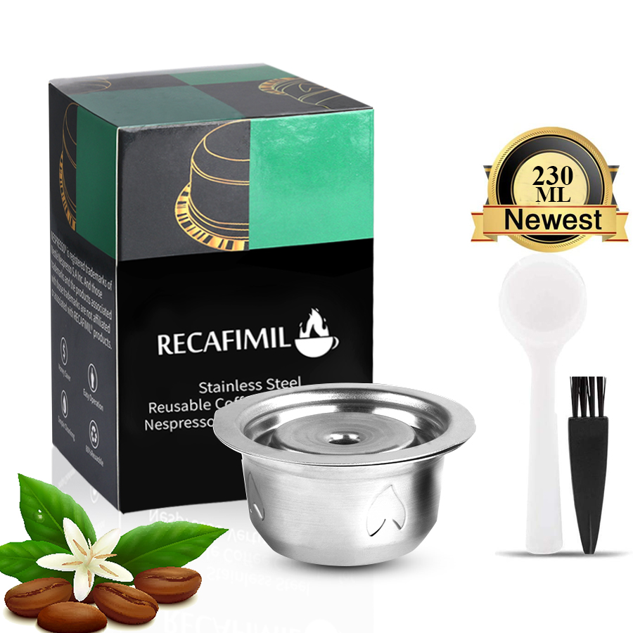 ICafilas Stianless Steel Reusable 230/70ML For Nespresso Vertuo Coffee Capsule Filter Espresso Vertuoline