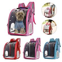 AUGKUN Pet Carrier Pet Transparent Backpack Cat Dog Outside Bag Portable Trolley Bag Pet Carrier Without Drawbar In Stock(China)