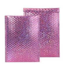 10PCS% 2FPack алюминий фольга пузырь почтовая рассылка красочные ресницы упаковка самоклеющаяся клей курьер сумка для подарка набивка доставка конверты