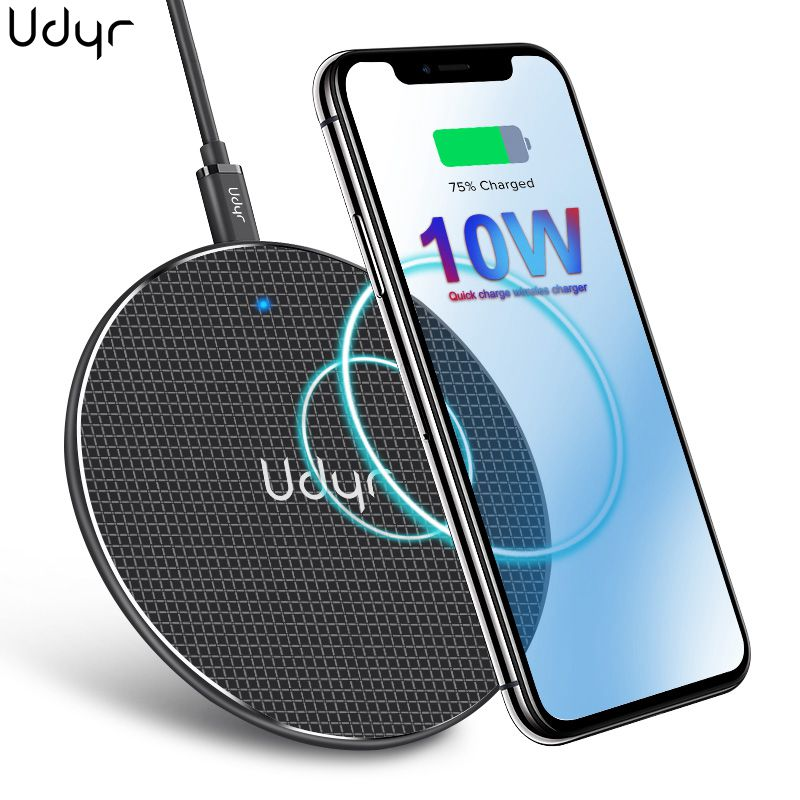 Udyr 10W Wireless Charger For Samsung Galaxy S9/S9+ S8 S7 S10 Plus USB Qi Charging For IPhone 11 XS Max Fast  Wireless Charger
