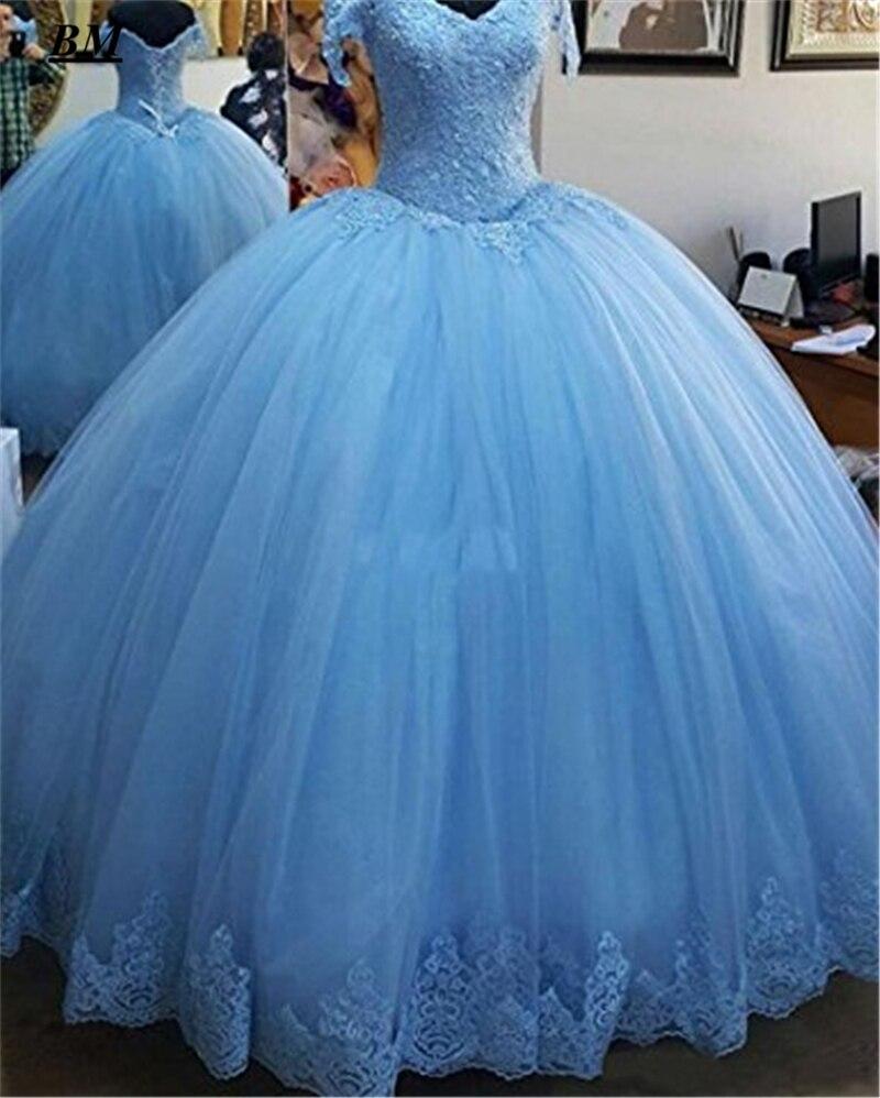 2019 plus récent dentelle Quinceanera robes robe De bal perles doux 16 robes formelle bal robe De soirée Vestido De 15 Anos BM167