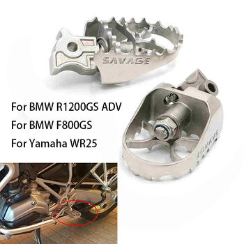 Motorcycle Front Foot Pegs Footrest For BMW R1200GS R1150GS ADV Adventure G650 F800 700 F650 GS Food Pads pedals Fit Yamaha WR25