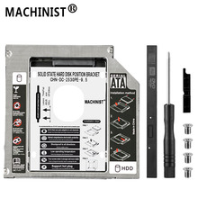 Aluminum Optibay 9.5mm SATA 3.0 2nd HDD Caddy SSD CD DVD Case Enclosure Sledding for laptop DVD-ROM Optical Bay box SuperDrive
