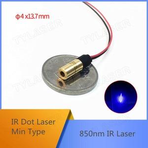 Минимальный размер D4X13.7mm 850nm 1 мВт 5 мВт ИК точечный лазерный модуль промышленного класса APC драйвер