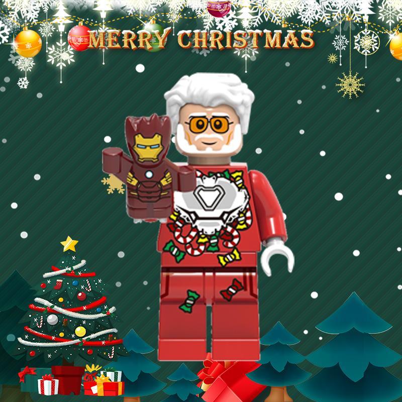 Christmas Iron Man Phoenix Legoed MINIFIGURED Santa Claus Reinideer Woman Super Heroes Building Blocks Toys Child Gifts XH1410
