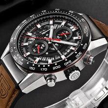 PAGANI DESIGN Fashion Sports Men's Watches Quartz Business Watch men Chronograph Silicone strap Waterproof Wrist Watch Top Brand
