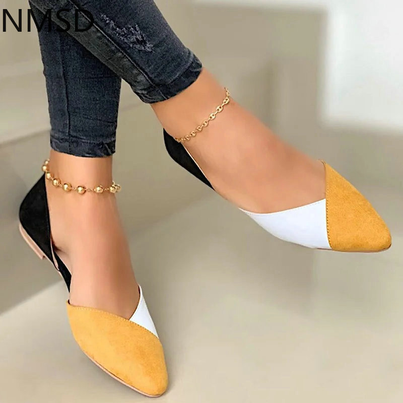 Woman Casual Shoes Flock Flats Shoes