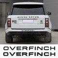 Эмблема багажника автомобиля из АБС для Land Rover Overfinch Range Rover V8 Sport 3D надпись задний багажник хромированная наклейка автомодификация