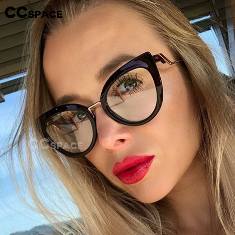 48113 Cat Eye Plastic Titanium Glasses Frames Round Ultralight Men Women Optical Fashion Computer Glasses