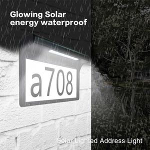 Image 5 - Lampa słoneczna domek z podświetleniem LED numer podświetlany drzwi do domu numer tablica adresowa lampa wodoodporna bezprzewodowa lampa ogrodowa Sunpower dekoracja do drzwi