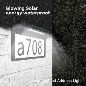 Image 5 - Luce solare del LED Numero di Casa Luce Della Porta di Casa Indirizzo Numero di Targa Della Lampada Senza Fili Impermeabile Sunpower Porta del Giardino Lampada Decorativa