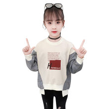 Unique Design Plaid Sleeve T shirt for Girls Cotton Causal T-shirts Kids Spring Autumn Clothes Clothing Girls Fashion Tee Tops girls plaid blouse 2019 spring autumn turn down collar teenager shirts cotton shirts casual clothes child kids long sleeve 4 13t