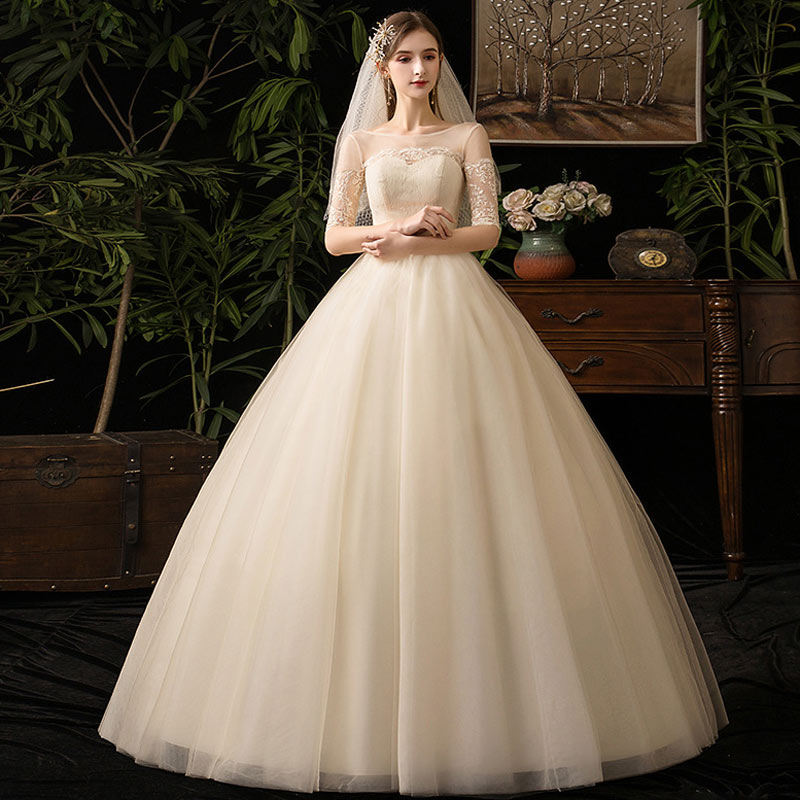 Simple Slim Fit Princess Wedding Dress New Elelgant Lace Princess Vintage Wedding Dresse Fashion Beautiful Wedding Gowns