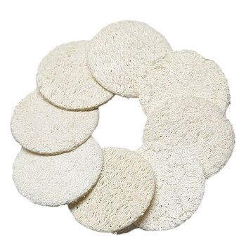 10Pcs Facial Cleansing Loofah Scrub Wisp Sponge Exfoliating Natural Luffa Pads Skin Scrubber Peeling Body Scrub Skin Care Shower 1