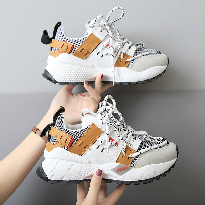 Women Sneakers 2019 Fashion Platform Sneakers Ladies Brand Designer Chunky Casual Shoes Lace-Up Woman Basket Sports Dad Shoes