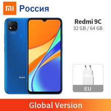 Versão global xiaomi redmi 9c 2gb 32gb/3gb 64gb 9 c telefone móvel 13mp câmera traseira mtk helio g35 6.53