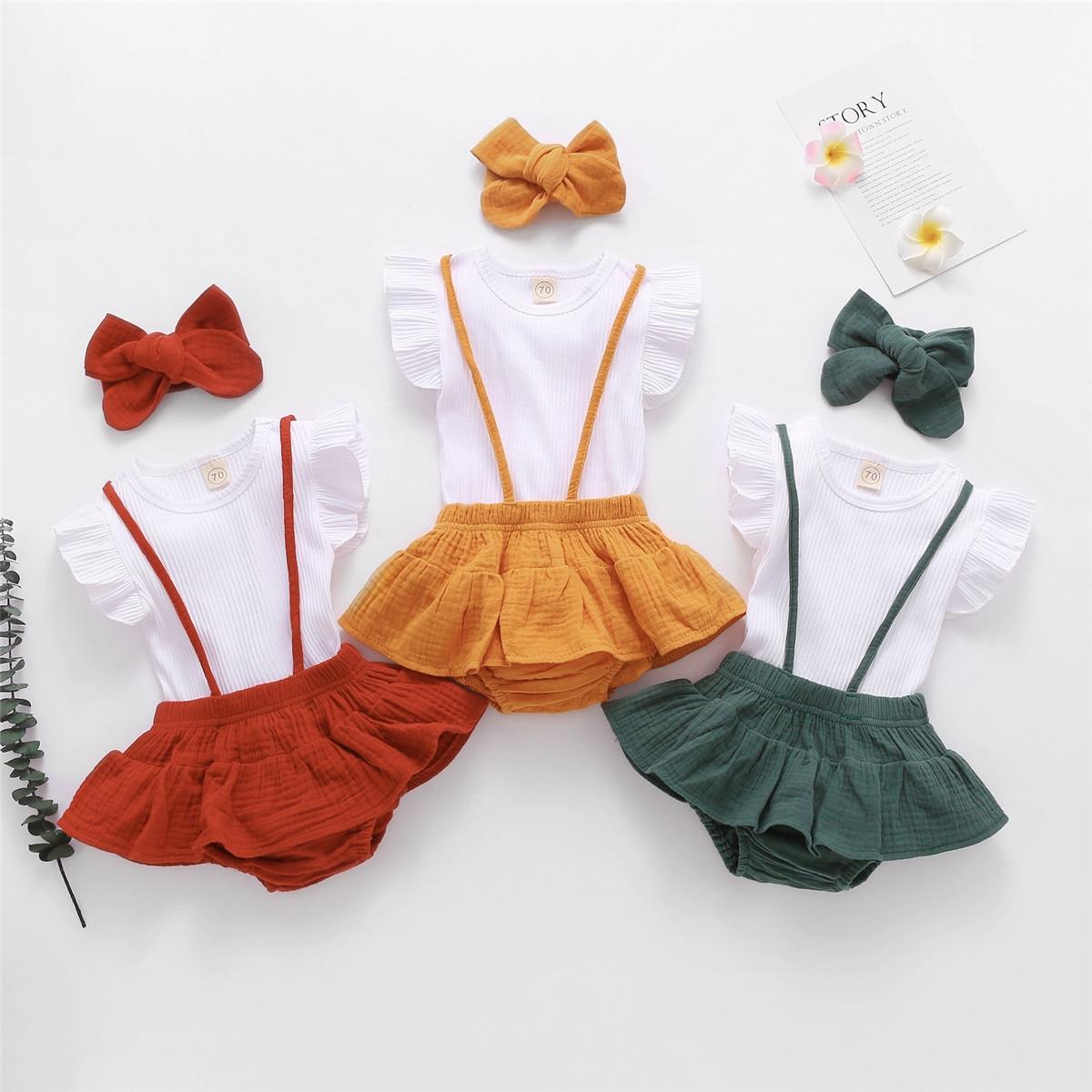 2021 летние товары первой необходимости для детей костюмы, Комплект из 3-х предметов для новорожденного, комплект повседневной детской одежды...