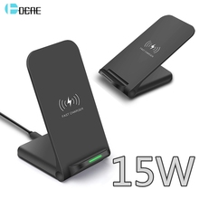 DCAE 15 ワットチーワイヤレス充電器 iPhone 用スタンド 11 プロ X XS 8 XR サムスン S9 S10 S8 USB C 高速充電ステーション電話急速充電