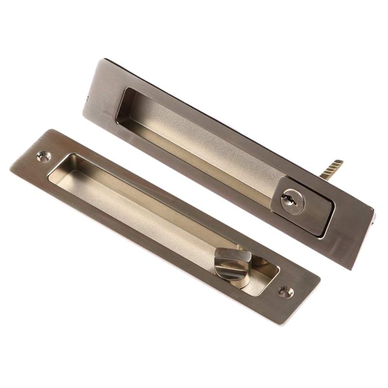 New Invisible Sliding Door Latch Locks Handle for Barn Wooden Door Bathroom Kitchen Balcony