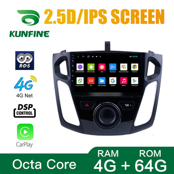 Octa Core 1024*600 Android 10.0 Car DVD GPS Navigation Player Deckless Car Stereo for Ford Focus 2012 -2017Radio image