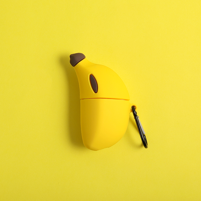 INS Hot 3D Simulated Banana Silicone Protection Headphone Case For Apple Bluetooth Earphone Airpods 1/2 Cover Cases Accessories