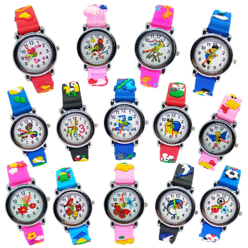 Football Silicone Kids Watches Unique Design Flower Girl Boy Child Quartz Watch Montre Enfant Baby Children Birthdays Gift Clock