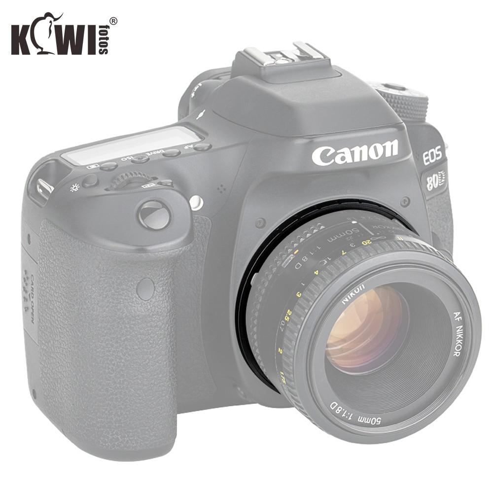 KIWIFOTOS Крепление объектива адаптер для Nikon F крепление линзы для объектива USM Canon EF/EF S крепление для корпуса камеры поддерживать бесконечным фокусом