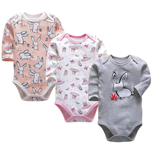 Baby Girls Clothing Newborn Bodysuit Long Sleeve 3 6 9 12 18 24 Months Set 3 Pack Infant Boys Clothes все цены