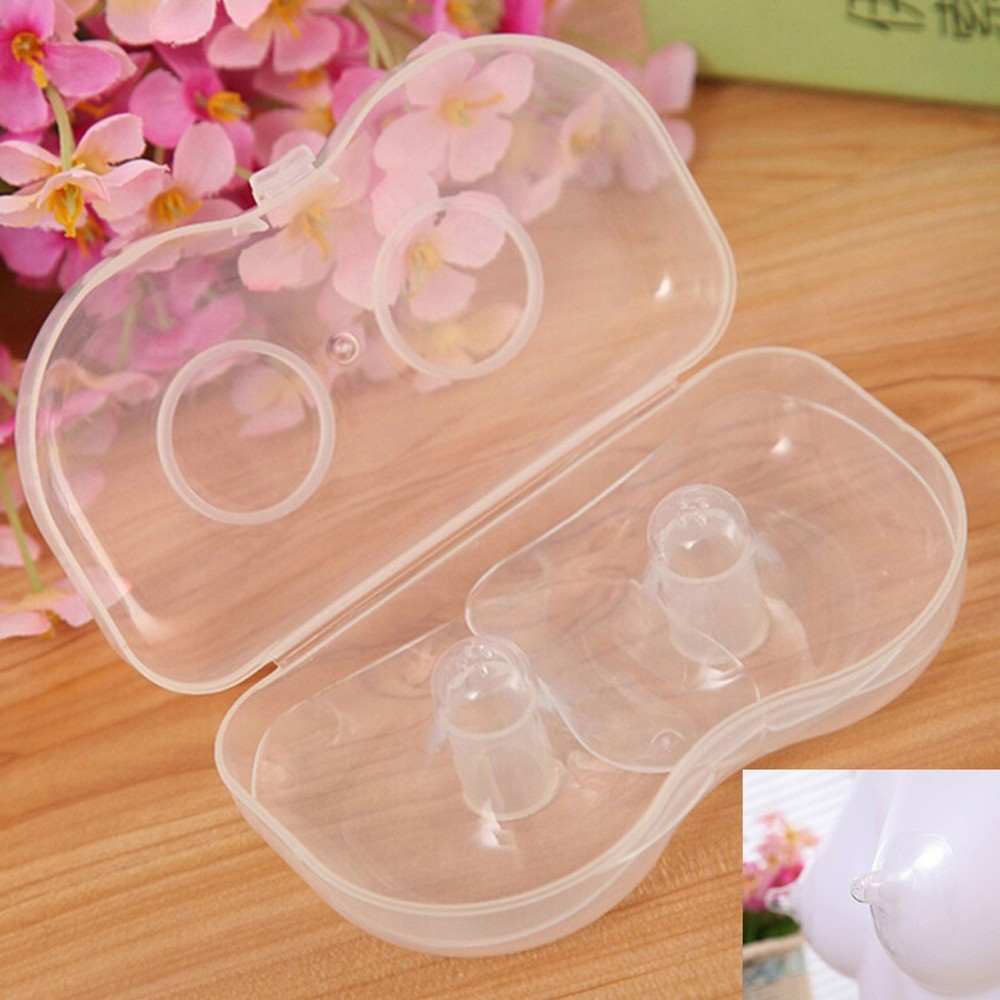 2 Pcs Box Silicone Nipple Protector Diameter 5.5cm Feeding Mothers Nipple Shields Protection Cover Mother Milk Silicone Nipple