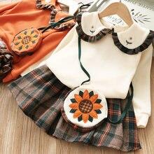 Комплект одежды для девочек осенне зимняя одежда с длинными