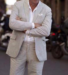 ANNIEBRITNEY Latest Coat Pant Designs Linen Groom Wedding Suits Custom Big Size Casual Men Suit Slim Fit Beach Tuxedos Set 2019