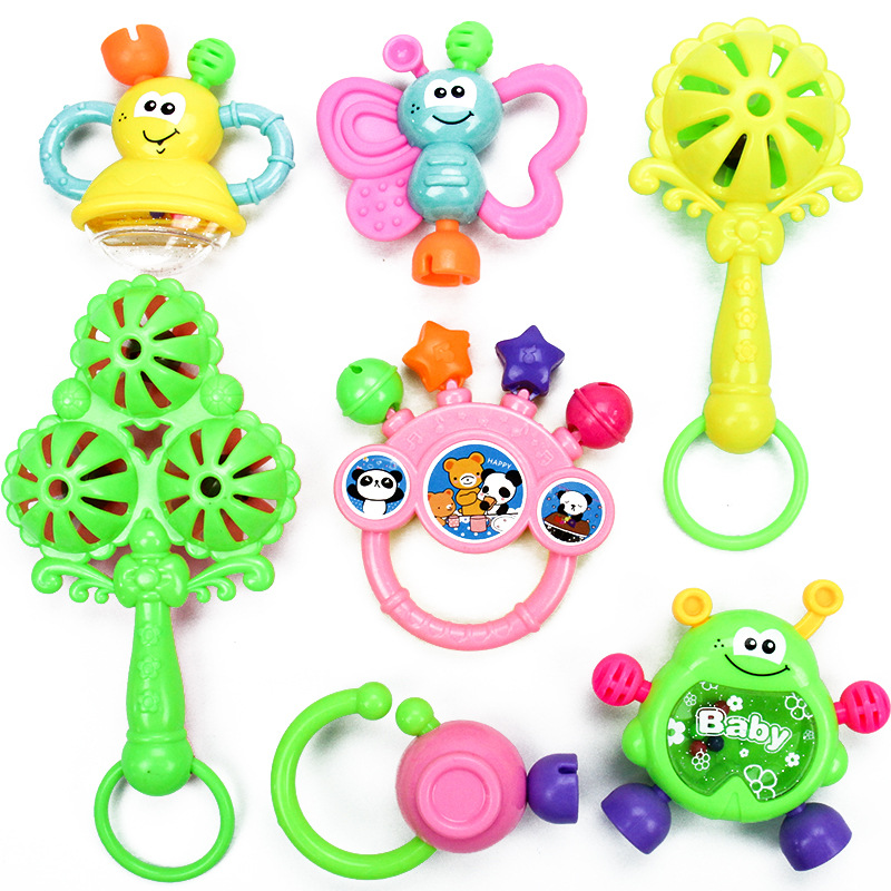 [Bei Guo E La Casa] Newborns Baby Toys 0-1-Year-Old BABY'S Rattle Set 3-6-12 Month Baby