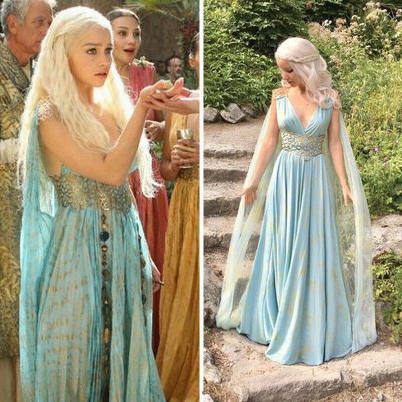 Mother Of Dragons Game Of Thrones Daenerys Targaryen Lady Fancy Dress Up Costume