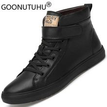 2019 winter winter men's boots ankle casual shoes genuine leather boot classic black & white shoe man Hip hop snow boots for men цены онлайн
