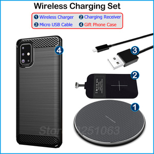 Image 5 - شاحن لاسلكي Qi لجهاز Samsung Galaxy A71 ، شاحن لاسلكي ومحول USB من النوع C ، مستقبل شحن ، جراب هاتف هدية A71