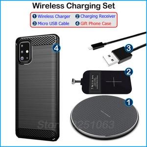 Image 5 - Sạc Không Dây Chuẩn Qi Thiết Bị Dành Cho Samsung Galaxy Samsung Galaxy A71 Sạc Không Dây & USB Loại C Adapter Nhận Sạc Tặng Ốp Lưng Điện Thoại a71