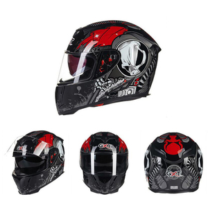 Image 3 - GXT خوذة الدراجات النارية تغطي كامل الوجه كاسكو موتو مزدوجة الوجة خوذة سباقات الدراجات النارية كاسكو وحدات خوذة الدراجات النارية #