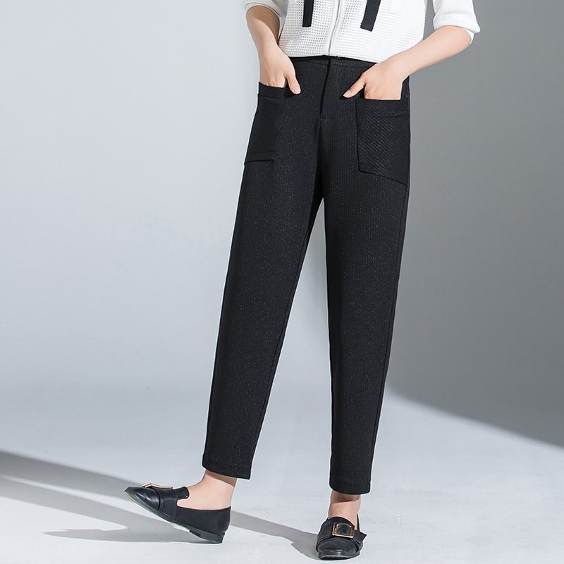 2019 Autumn New Style Harem   Pants   Women's Korean-style   Capri   Large Size Dress Casual   Pants   WOMEN'S   Pants   Manufacturers Wholesale